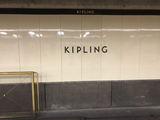 2号線(緑)の終点KIPLING駅